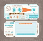 Movie Ticket Wedding Invitation Design Template — Stock Vector