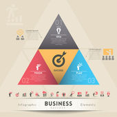 Business Strategy Concept Graphic Element — Stok Vektör