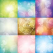 Abstract blurred lights bokeh background — Stock Vector