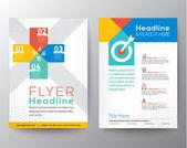 Brochure Flyer graphic design Layout vector template — Stock Vector