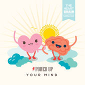 Power up your mind illustration — Stock Vector
