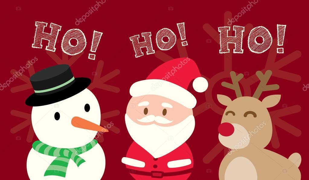 Santa Claus Muñeco De Nieve Renos Navidad Dibujos