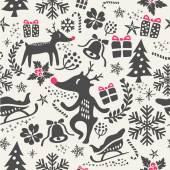 Christmas background seamless pattern — Stock Vector