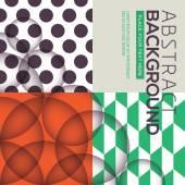 Polka dot and retro geometric seamless pattern background — Stock Vector