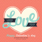 Valentine' s Day Invitation card template with LOVE word — Vector de stock