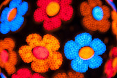 Bokeh abstract flowers — Stockfoto