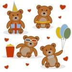 Four funny cartoon bear cubs — Stock Vector #59715733