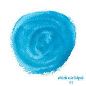 Cercle aquarelle bleu — Vecteur