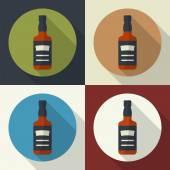 Whiskey bottle icon. — Stock Vector
