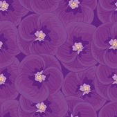 Seamless purple background with  violets.seamless pattern. — Stock Vector