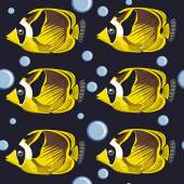 Seamless pattern. tropical fish — Stock Vector