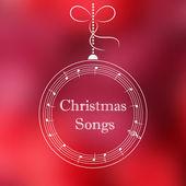 Christmas ball with music notes — Vetor de Stock