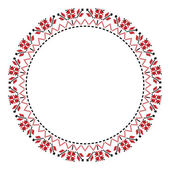 Traditional Slavic round embroidery — Stock Vector