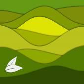 Grünbuch abstrakte Hintergrund — Stockvektor