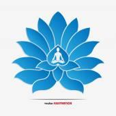 Yoga symbol — Stock Vector