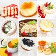 Various desserts collage — Stock Photo #66765913