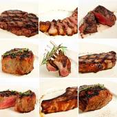 Grilled meat collage — Stock Photo