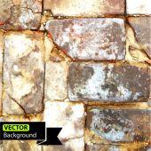 Vector wall brick, grunge background. EPS — Stock Vector