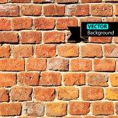 Tijolo de parede vetor, fundo grunge. eps — Vetorial Stock