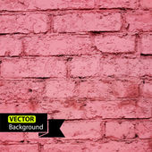 Vector de ladrillo de la pared, fondo grunge. eps — Vector de stock