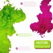 Vector ink swirling in water. Background vector. — Stock Vector