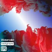 Vector ink swirling in water. Background vector. — 图库矢量图片