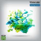 Watercolor vector background. Hand drawing. — Stock Vector