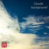 Cielo azul con nubes. vector de fondo. — Vector de stock