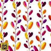 Multicolor Watercolor Vector Flowers — Stock Vector