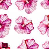 çok renkli suluboya vektör çiçek — Stok Vektör