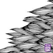 Patrón dibujado mano blanco y negro — Vector de stock