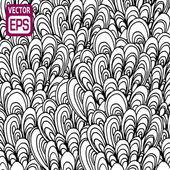 Black and white hand drawn pattern — Stockvector