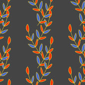 Nature seamless pattern of colored leaves. Vector illustration — Stock Vector
