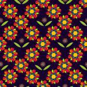 Art flower seamless pattern on the background — Stock Vector