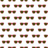 Seamless pattern from glasses in vintage style. — Stock Vector