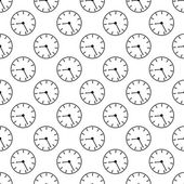 Time abstract seamless pattern. Vector illustration background — ストックベクタ