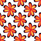 Art flower seamless pattern on the background — 图库矢量图片