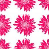 Art flower seamless pattern on the background. — Vector de stock