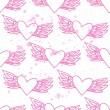Pink seamless pattern with hearts on a backround. — Stock Vector #60710299
