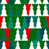 Vector Christmas seamless pattern with chrismas trees. — Stock Vector