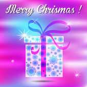 Merry christmas gift on a background. — Vettoriale Stock