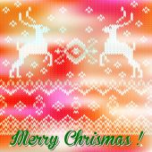 Merry christmas wool background. — ストックベクタ