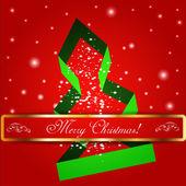 Veselé vánoční strom pozadí. — Stock vektor