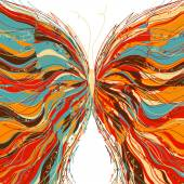 Vector butterfly design on a white background. — Vetor de Stock
