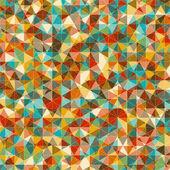 Soyut geometrik çok renkli mozaik arka plan. — Stok Vektör