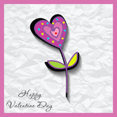 Happy valentines day cards with flower on background — Vettoriale Stock