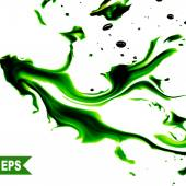 Vector abstract green cloud. Ink swirling in water, clouds of ink isolated. Abstract banner paints. — Stock Vector