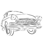 Retro car or Vintage on a white background. — Stock Vector