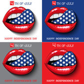 Happy independence day card United States of America, 4 th July. — Stock Vector