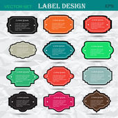 Collection of vintage retro labels, badges and icons. Vector — Stock Vector